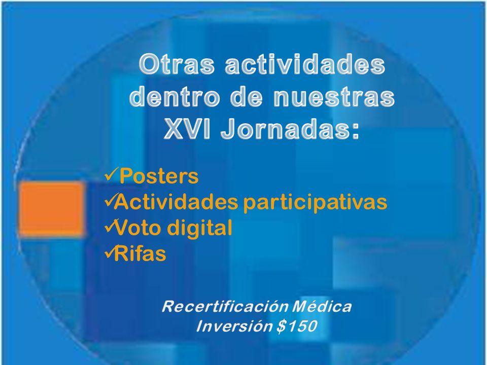 Posters Actividades participativas Voto digital Rifas