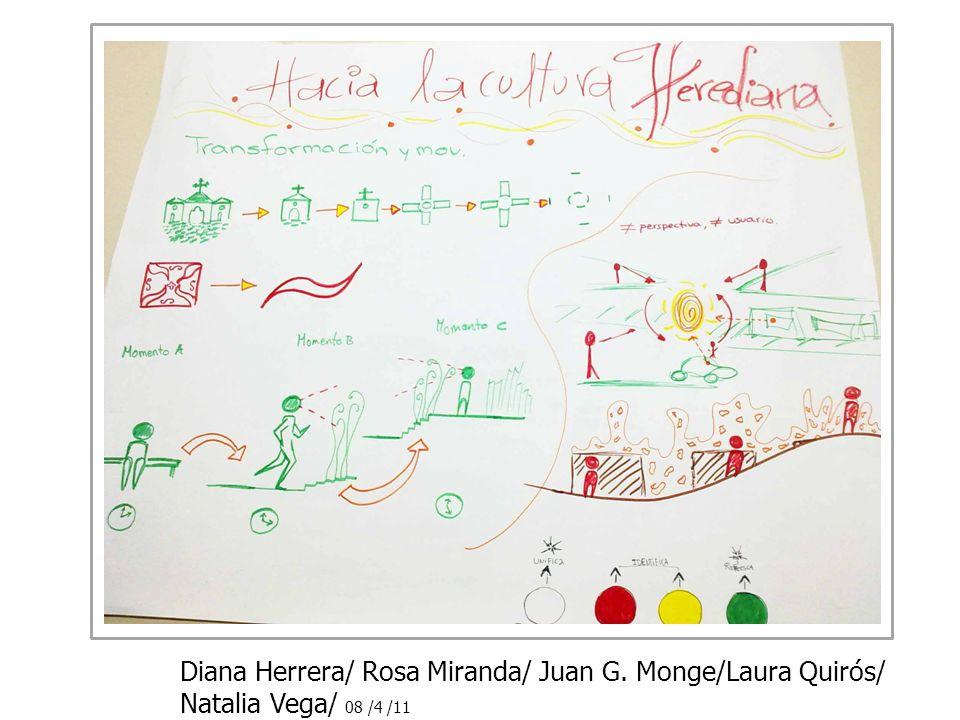 Diana Herrera/ Rosa Miranda/ Juan G. Monge/Laura Quirós/ Natalia Vega/ 08 /4 /11