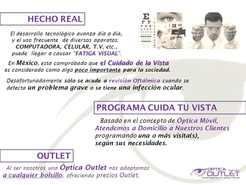 HECHO REAL PROGRAMA CUIDA TU VISTA OUTLET el Cuidado de la Vista En México, esta comprobado que el Cuidado de la Vista es considerado como algo poco i