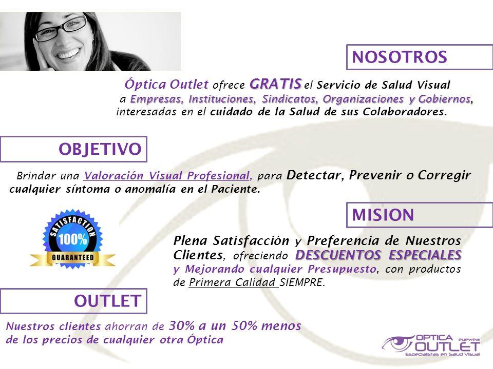 NUESTROS CLIENTES Óptica Outlet ha realizado Proyectos de Salud Visual con 50 clientes más de 50 clientes de sectores públicos y privados.