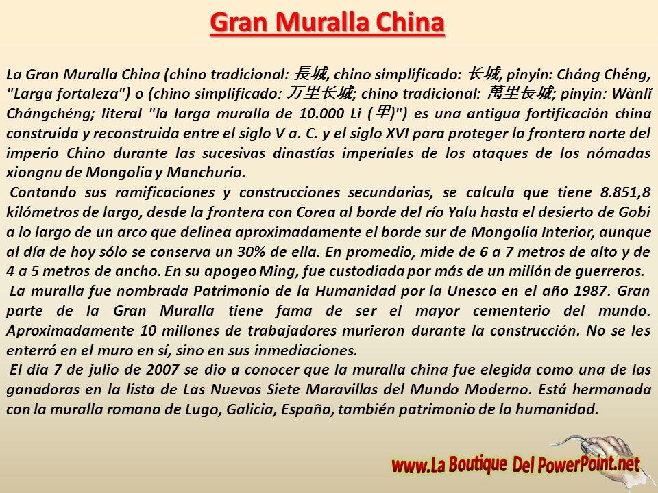 Factoría Barni se complace en presentarles la producción titulada LA GRAN MURALLA CHINA,, elaborada en esta factoría y cuya calificación moral es PARA