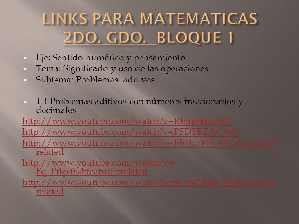 Eje: Sentido numérico y pensamiento Tema: Significado y uso de las operaciones Subtema: Problemas aditivos 1.1 Problemas aditivos con números fraccion
