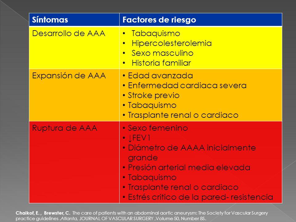En los AAT la clasificación propuesta por S.