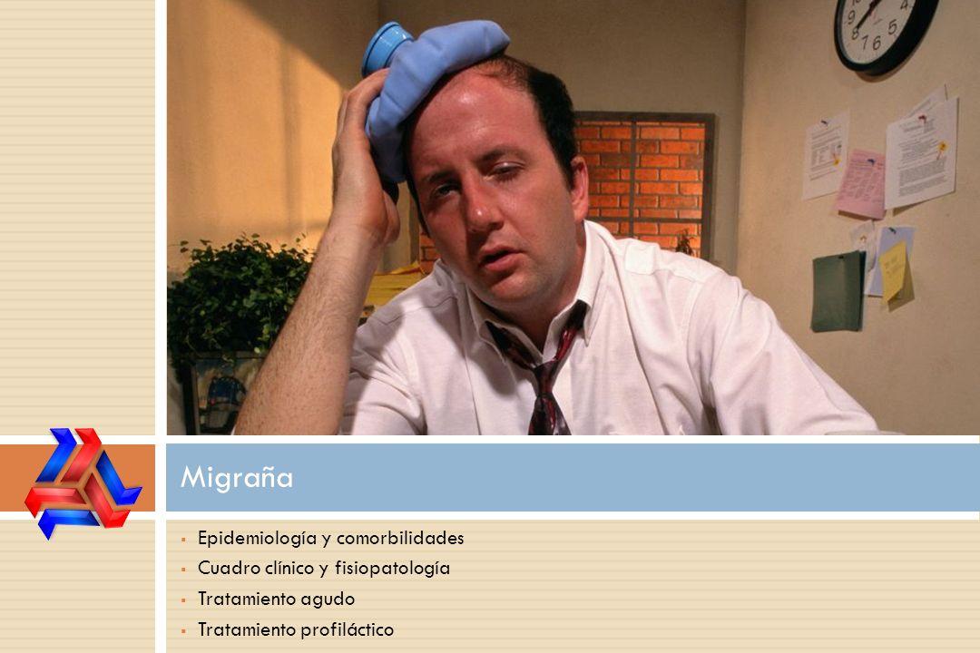 Epidemiología y comorbilidades Cuadro clínico y fisiopatología Tratamiento agudo Tratamiento profiláctico Migraña