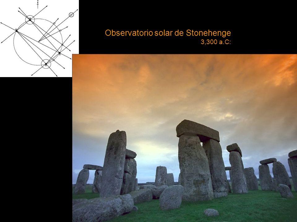 Observatorio solar de Stonehenge 3,300 a.C: