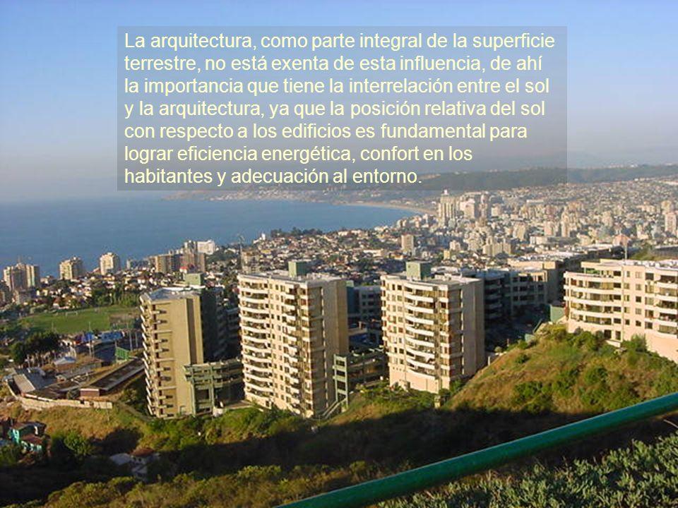La arquitectura, como parte integral de la superficie terrestre, no está exenta de esta influencia, de ahí la importancia que tiene la interrelación e