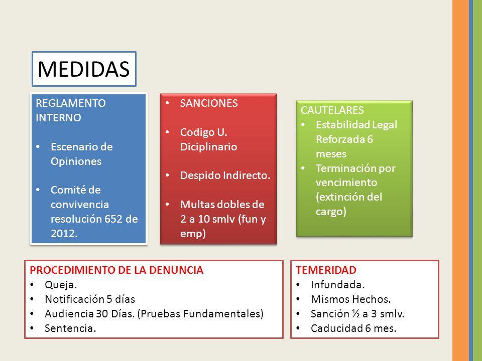 REGLAMENTO INTERNO Escenario de Opiniones Comité de convivencia resolución 652 de 2012.