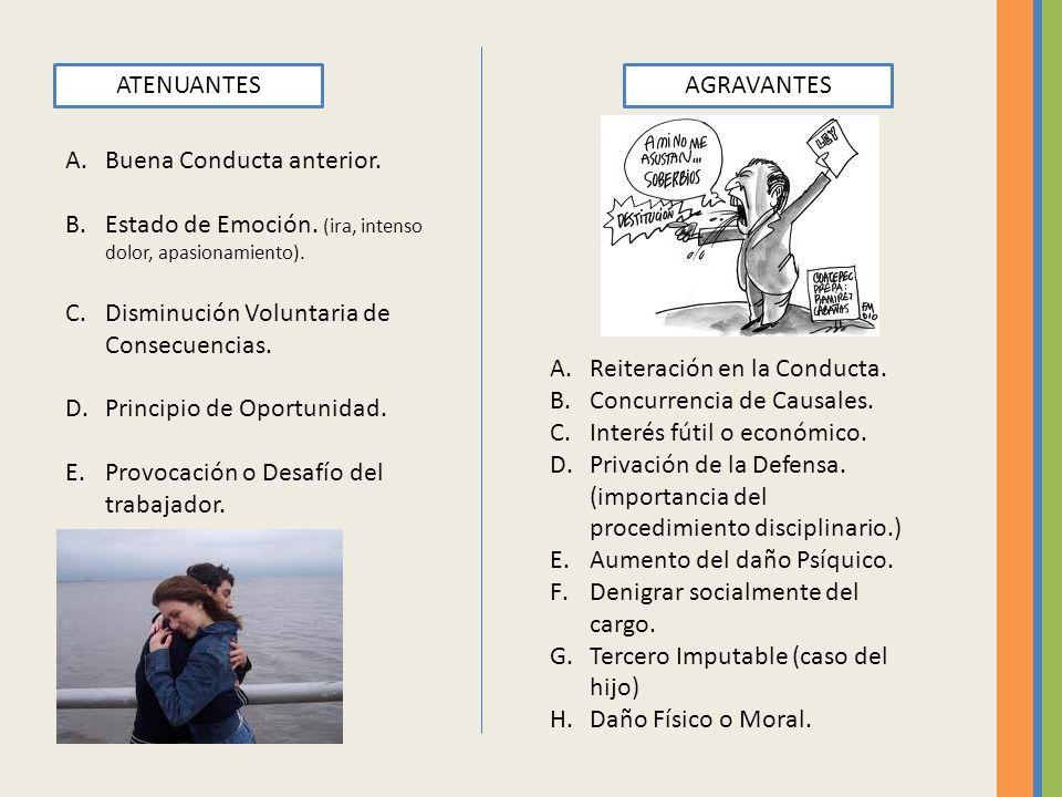 ATENUANTESAGRAVANTES A.Buena Conducta anterior.B.Estado de Emoción.