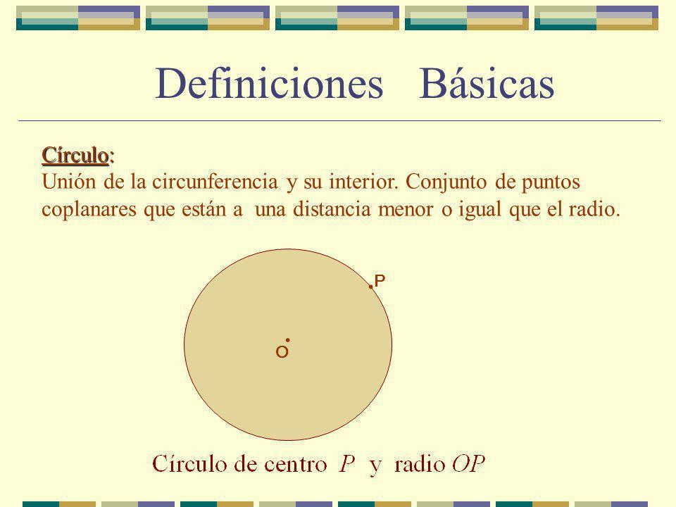Ángulo central: Ángulo central: Dados dos puntos E y F de una circunferencia.