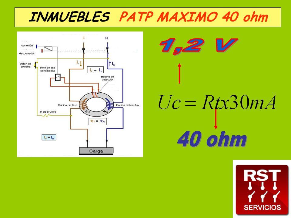 . INMUEBLES PATP MAXIMO 40 ohm