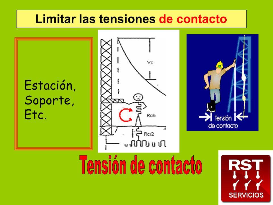 Limitar las tensiones de contacto Estación, Soporte, Etc.