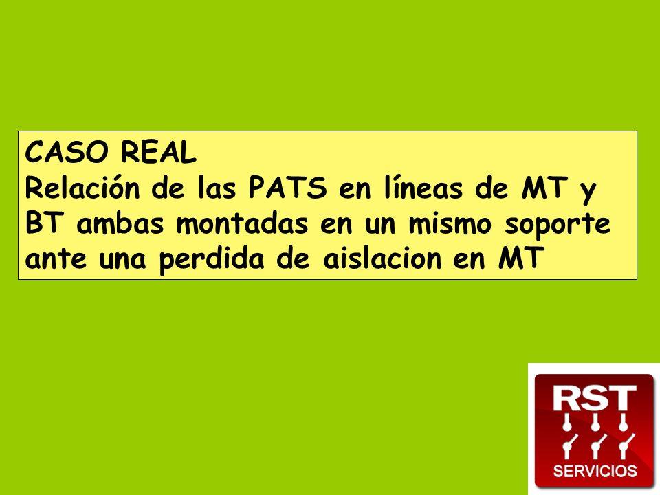 CASO REAL Relación de las PATS en líneas de MT y BT ambas montadas en un mismo soporte ante una perdida de aislacion en MT
