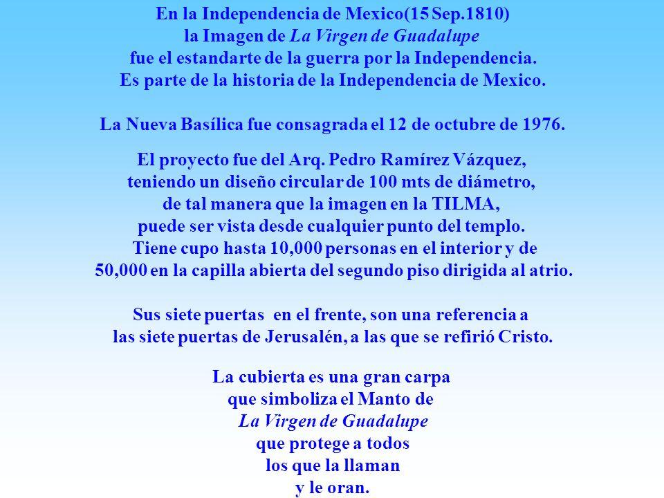 La Virgen de Guadalupe fue sucesivamente proclamada 25 de Mayo de 1754 El Papa Benedicto XIV declaro a La Virgen de Guadalupe Patrona de la Nueva Espa