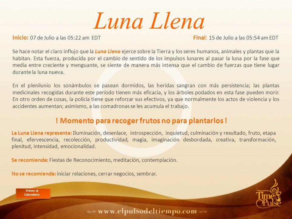 La Luna Llena representa: I luminación, desenlace, introspección, inquietud, culminación y resultado, fruto, etapa final, efervescencia, recolección, productividad, magia, imaginación desbordada, creativa, transformación, plenitud, intensidad, emocionalidad.