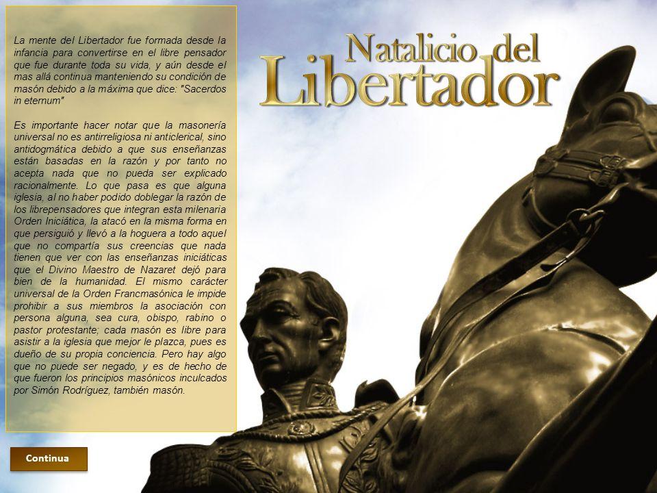 Lo que influenció al joven Simón Antonio de la Santísima Trinidad.