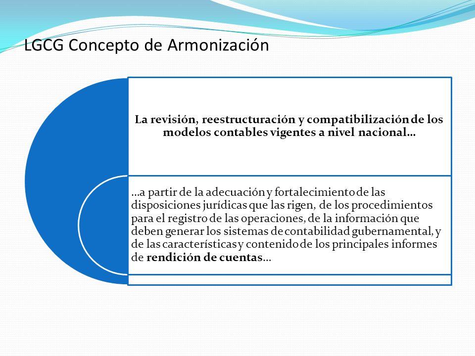 La revisión, reestructuración y compatibilización de los modelos contables vigentes a nivel nacional… …a partir de la adecuación y fortalecimiento de