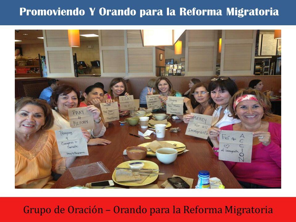 El dia comenzo con un culto de oracion y adoracion Grupo de Oración – Orando para la Reforma Migratoria Promoviendo Y Orando para la Reforma Migratori
