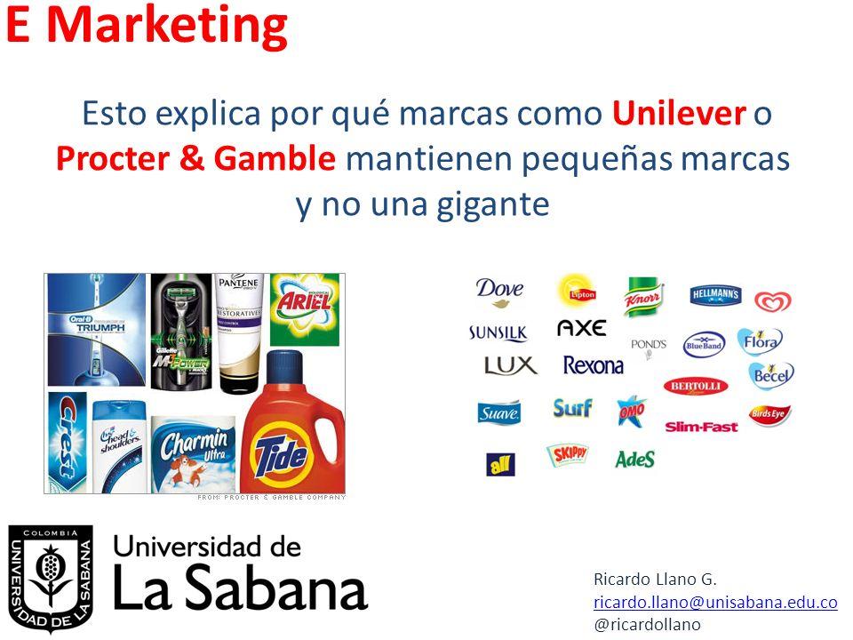 E Marketing Ricardo Llano G. ricardo.llano@unisabana.edu.co @ricardollano