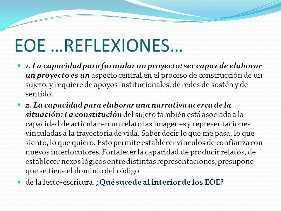 EOE …REFLEXIONES… 1.