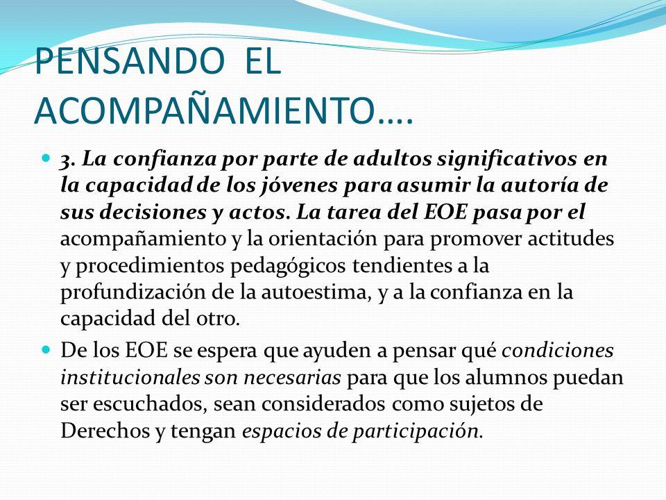 PENSANDO EL ACOMPAÑAMIENTO…. 3.