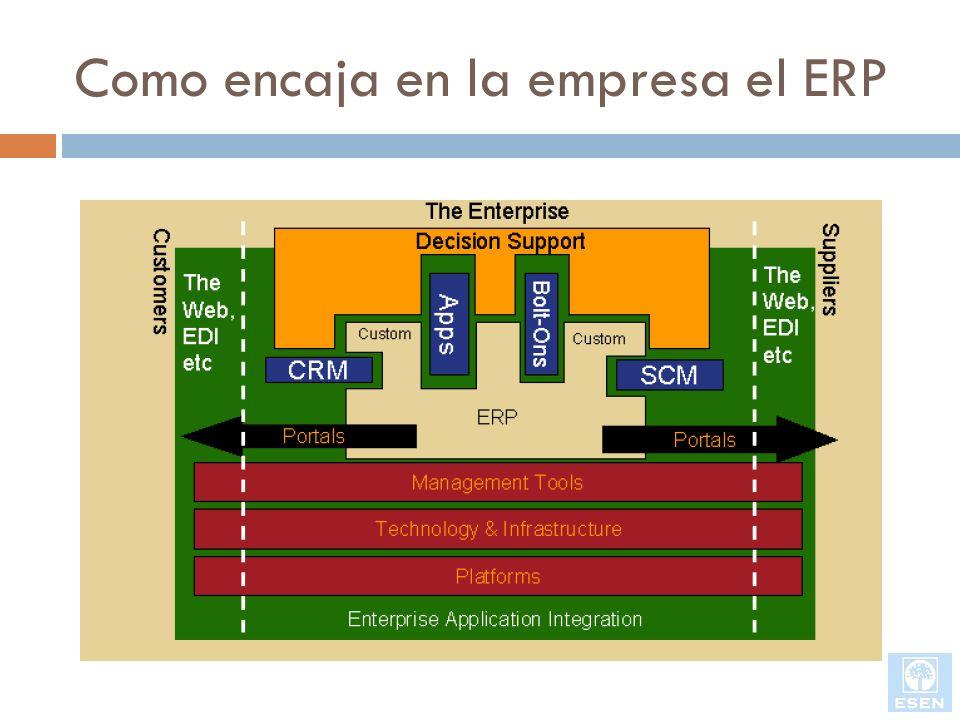 Como encaja en la empresa el ERP