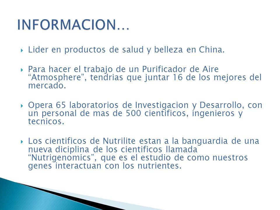 Lider en productos de salud y belleza en China. Para hacer el trabajo de un Purificador de Aire Atmosphere, tendrias que juntar 16 de los mejores del