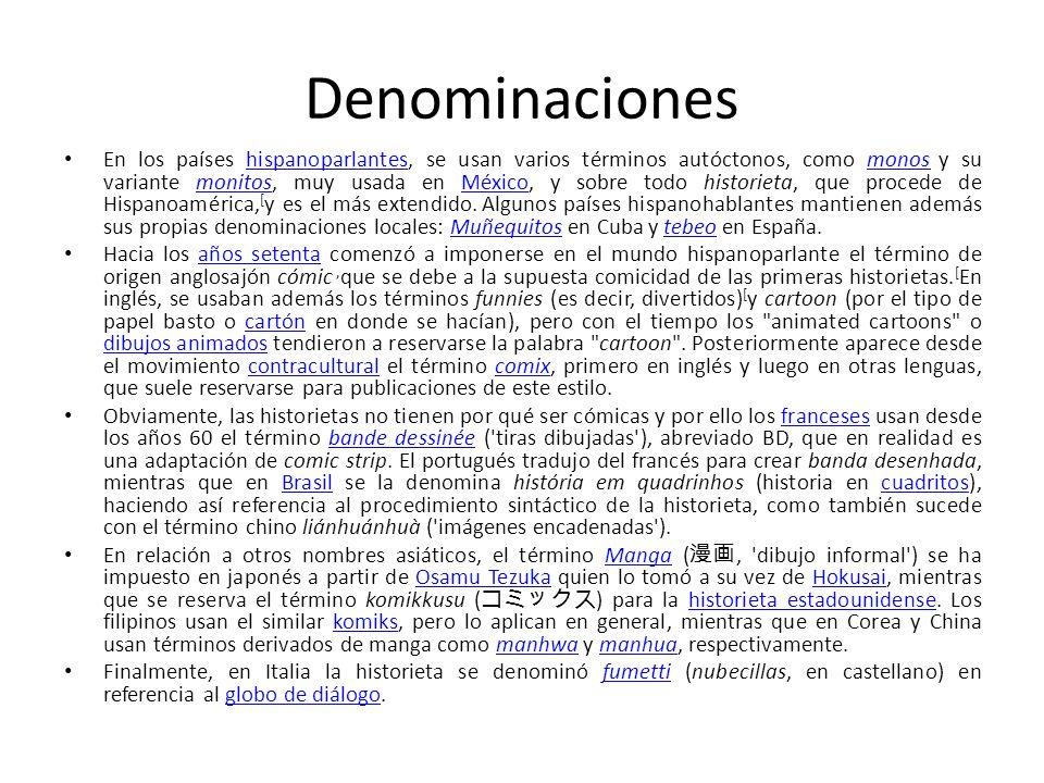 Denominaciones En los países hispanoparlantes, se usan varios términos autóctonos, como monos y su variante monitos, muy usada en México, y sobre todo