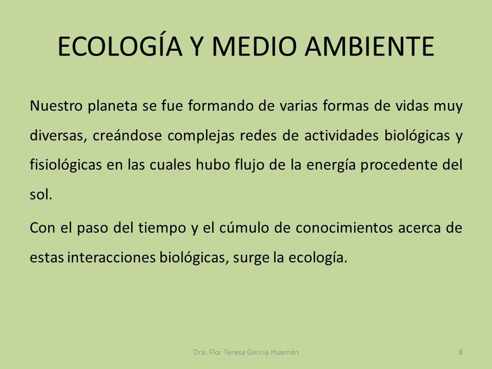 ECOLOGÍA Y MEDIO AMBIENTE Nuestro planeta se fue formando de varias formas de vidas muy diversas, creándose complejas redes de actividades biológicas