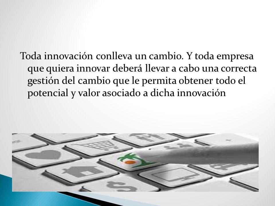 Toda innovación conlleva un cambio.