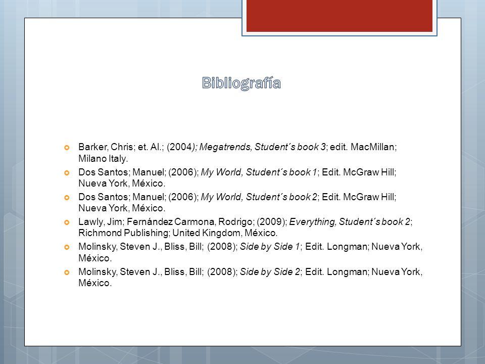 Barker, Chris; et.Al.; (2004); Megatrends, Student´s book 3; edit.