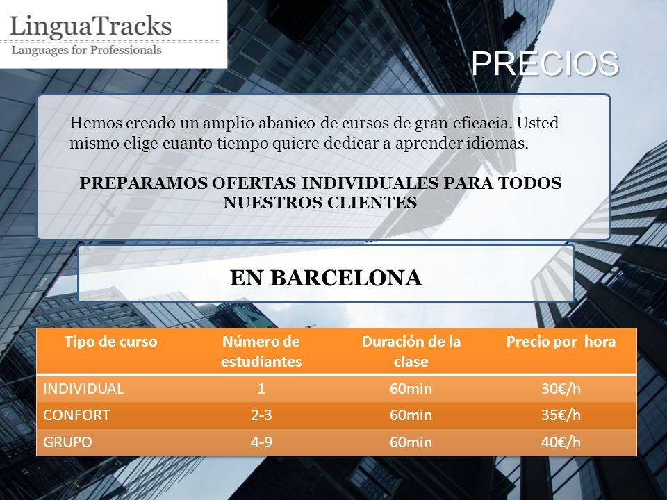 PRECIOS FUERA DE BARCELONA hasta 40 km y mínimo de 4 horas
