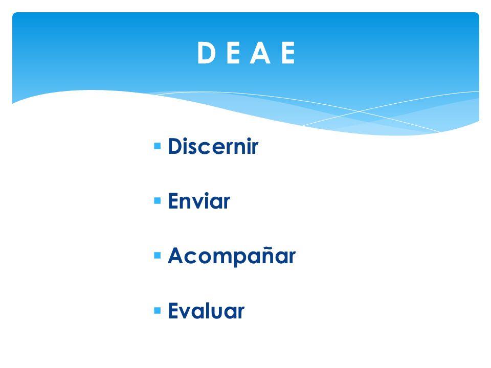 Discernir Enviar Acompañar Evaluar D E A E
