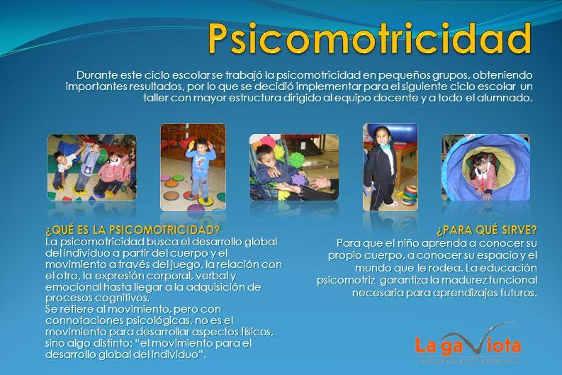 Durante este ciclo escolar se trabajó la psicomotricidad en pequeños grupos, obteniendo importantes resultados, por lo que se decidió implementar para