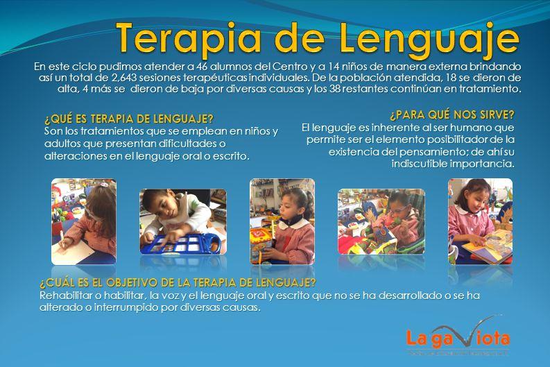 En este año se brindaron 1,405 terapias individuales asistiendo a 39 niños.