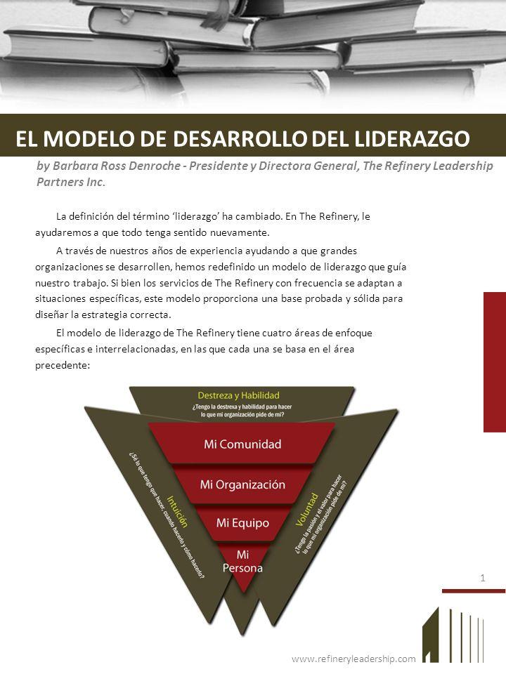 www.refineryleadership.com EL MODELO DE DESARROLLO DEL LIDERAZGO La definición del término liderazgo ha cambiado. En The Refinery, le ayudaremos a que