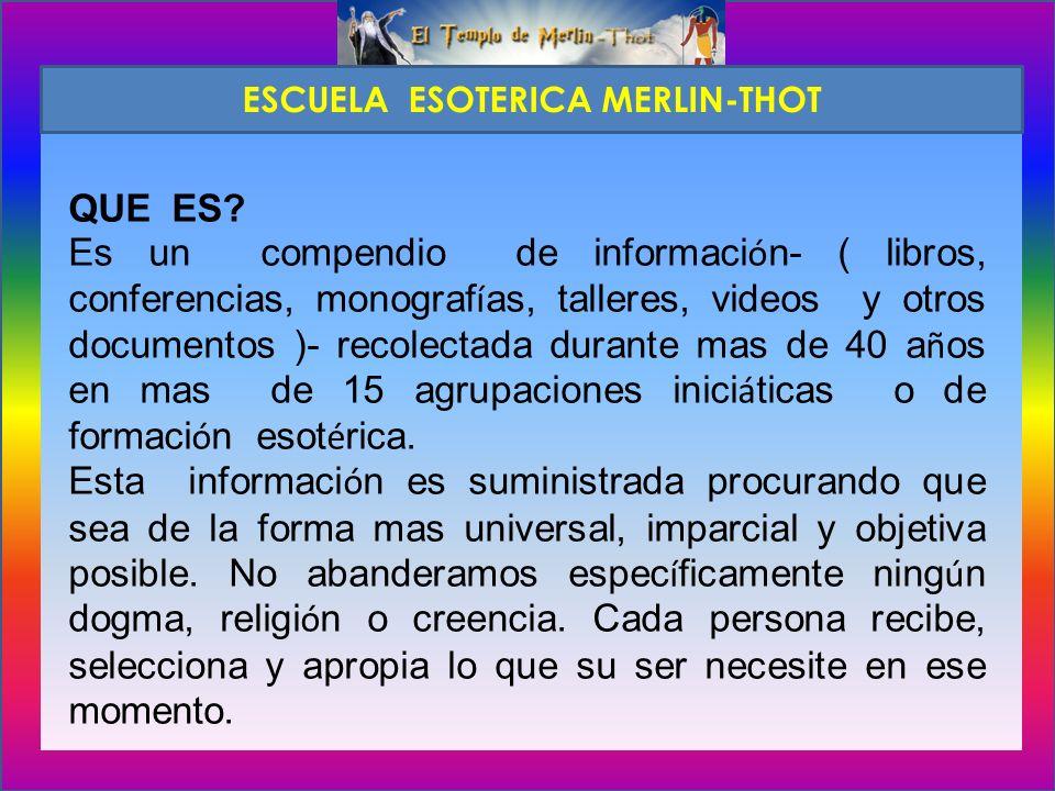 QUE RECONOCIMIENTO ENTREGA LA ESCUELA MERLIN-THOT AL FINAL DE LOS ESTUDIOS.