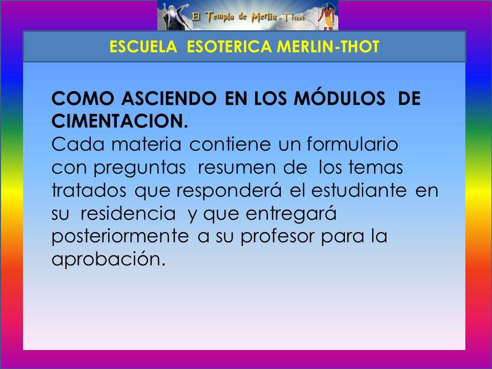 COMO ASCIENDO EN LOS MÓDULOS DE CIMENTACION.