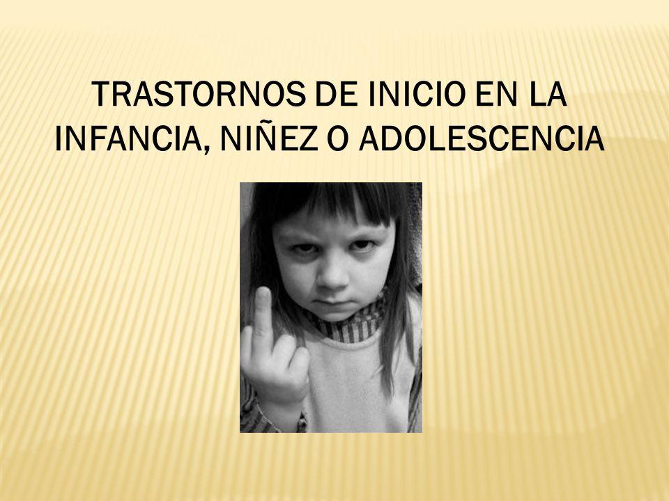 Trastornos generalizados del desarrollo Trastorno autista Trastorno de Asperger Trastorno de Rett Trastorno desintegrativo infantil