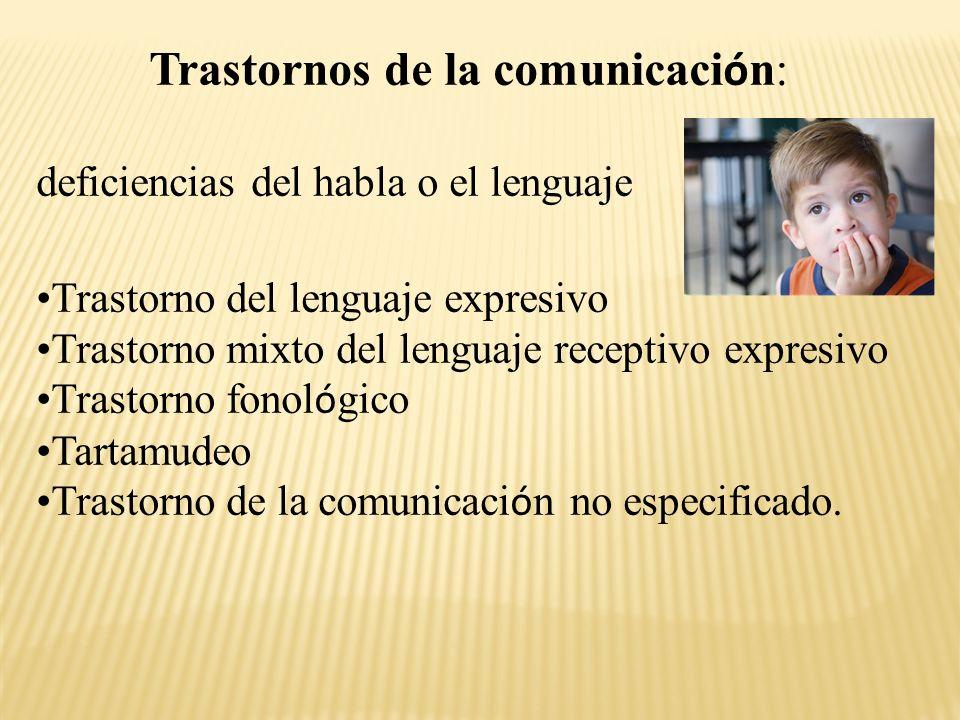 TRASTORNOS DE LA COMUNICACI Ó N Trastorno del lenguaje expresivo (dislalia) - Dificultades pueden aparecer en la comunicaci ó n verbal como en el gestual.