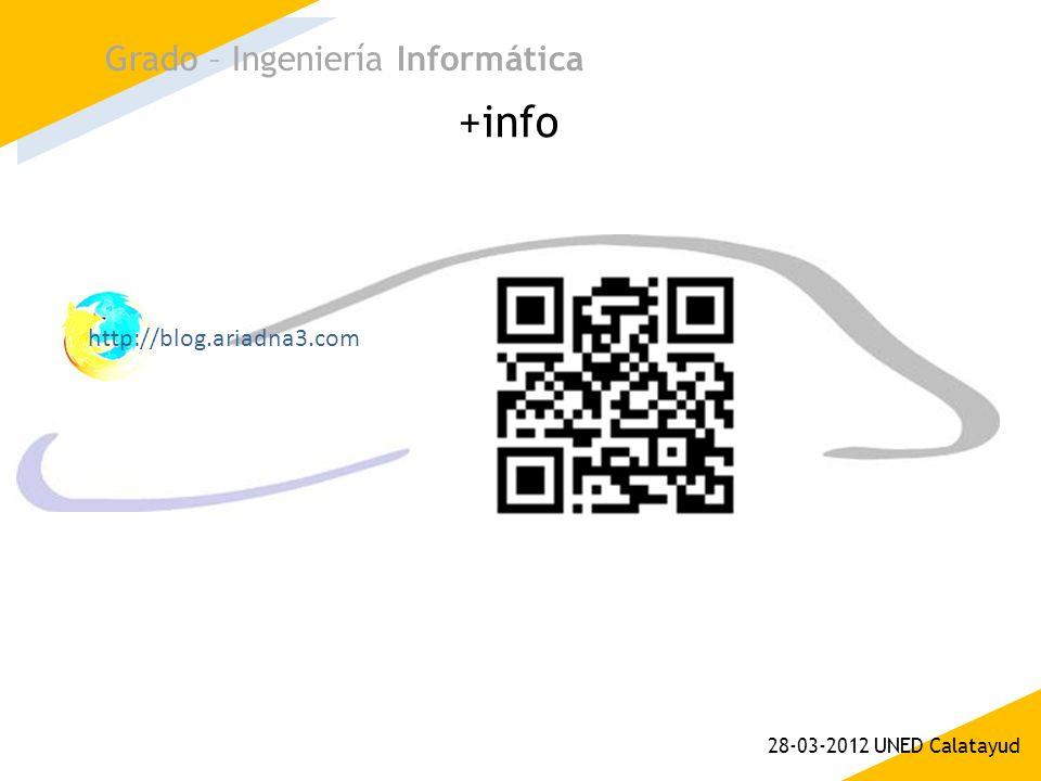 +info Grado – Ingeniería Informática 28-03-2012 UNED Calatayud http://blog.ariadna3.com