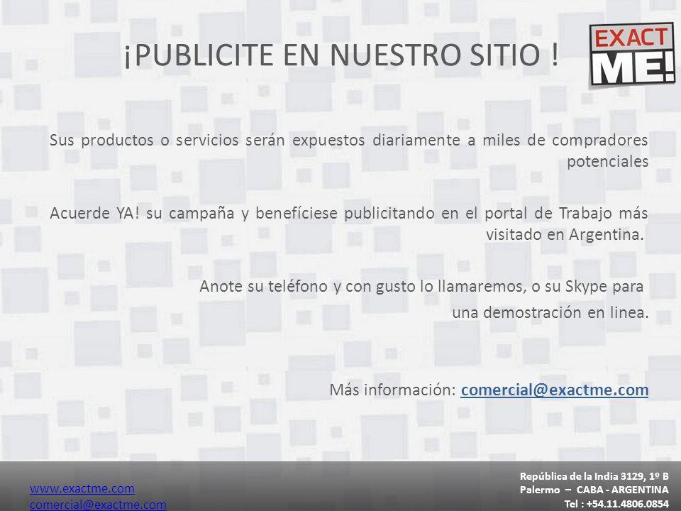 ¡PUBLICITE EN NUESTRO SITIO .
