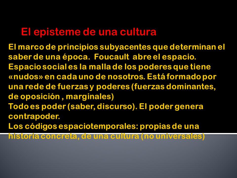 El episteme de una cultura
