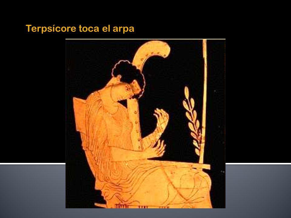 Terpsícore toca el arpa