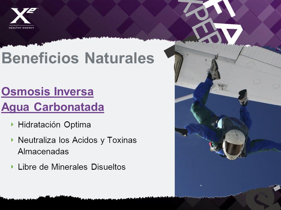 Beneficios Naturales Osmosis Inversa Agua Carbonatada Hidratación Optima Neutraliza los Acidos y Toxinas Almacenadas Libre de Minerales Disueltos