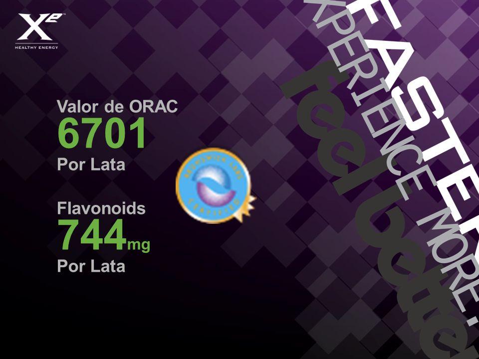 Valor de ORAC 6701 Por Lata Flavonoids 744 mg Por Lata