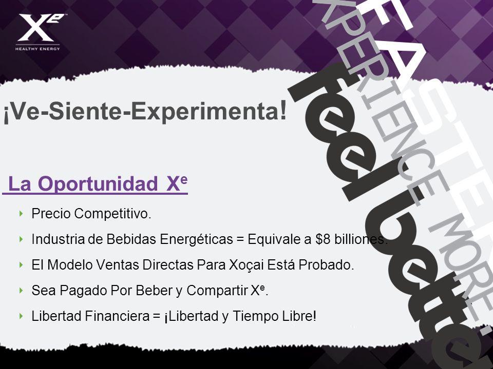 ¡Ve-Siente-Experimenta ! La Oportunidad X e Precio Competitivo. Industria de Bebidas Energéticas = Equivale a $8 billiones. El Modelo Ventas Directas