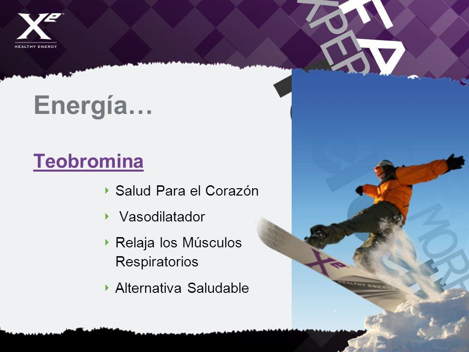 Energía… Teobromina Salud Para el Corazón Vasodilatador Relaja los Músculos Respiratorios Alternativa Saludable