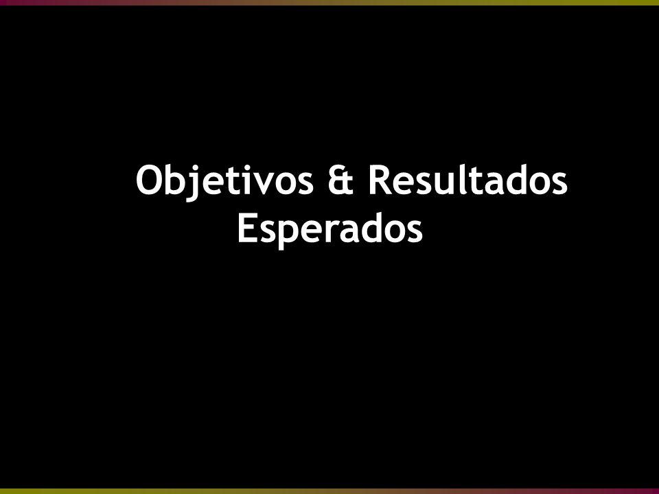 Objetivos & Resultados Esperados Objetivos & Resultados Esperados