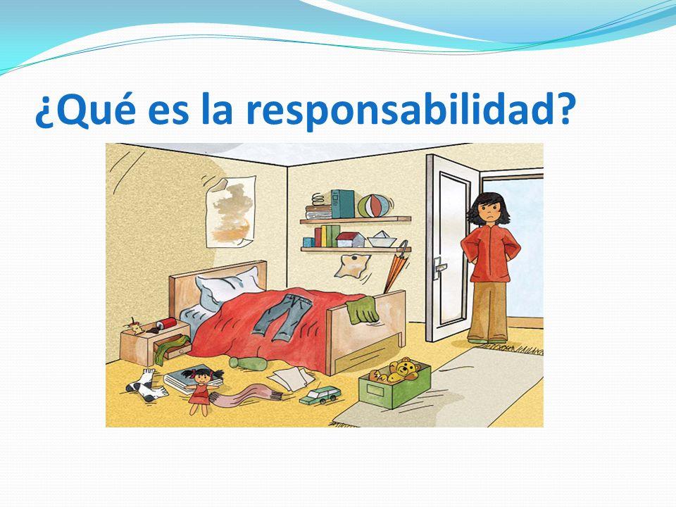 ¿Qué es la responsabilidad?