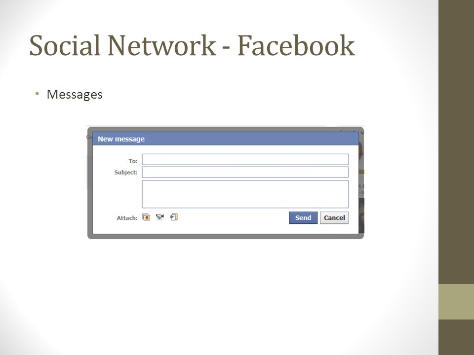 Social Network - Facebook Messages